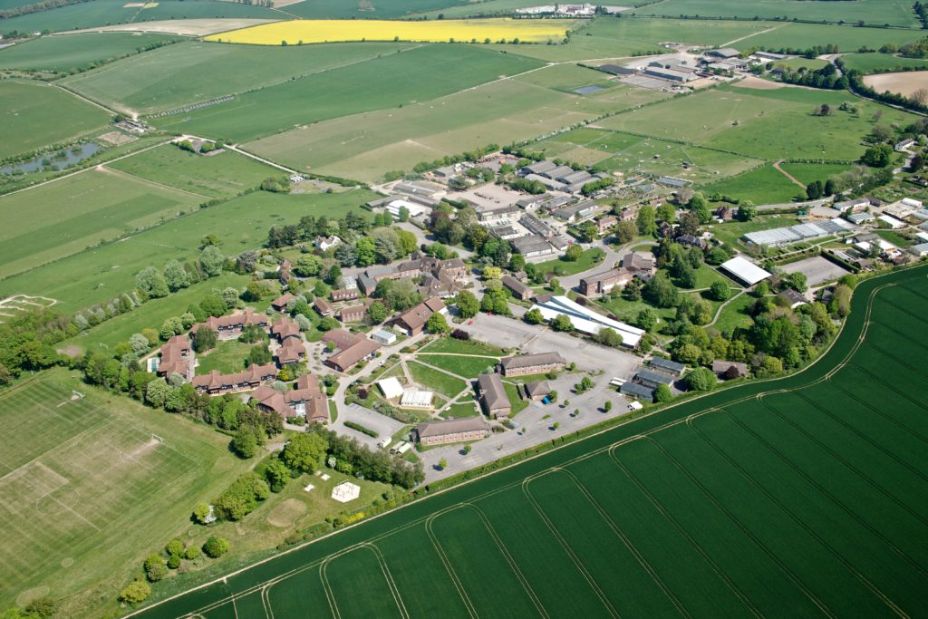 Aerial view of Sparsholt College