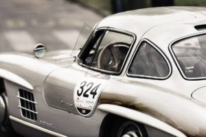 Classic Mercedes Gullwing in Silver