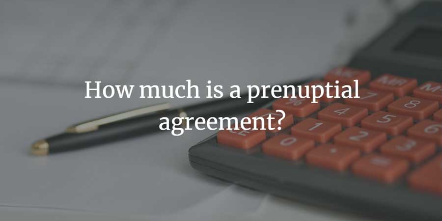 What is the cost of using a solicitor for a prenup?