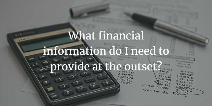Necessary financial information to provide
